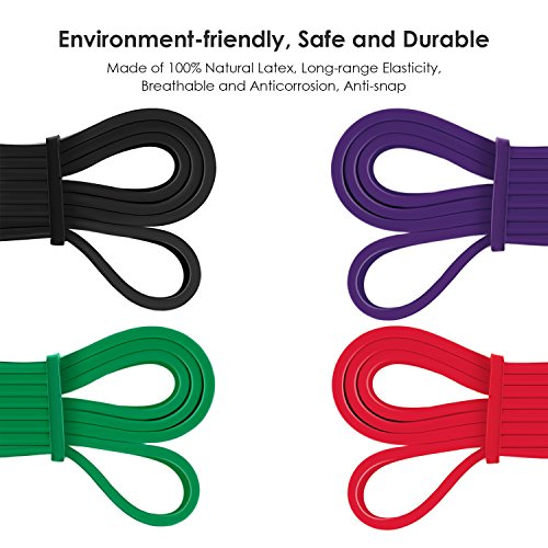 INTEY Pull up Assist Band Exercise Resistance Bands for Workout Body Stretch Powerlifting Set of 4
