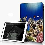 She Charm Carcasa para iPad 10.2 Inch, iPad Air 7.ª Generación,Mundo Submarino. Peces de Coral del mar Rojo Egipto,Incluye Soporte magnético y Funda para Dormir/Despertar