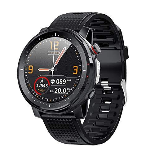 ZYD L15 Inteligente del Reloj De 1.3 Pulgadas De Pantalla Táctil Completa Hombres Control De Música De Cámara Bluetooth Linterna IP68 A Prueba De Agua Reloj PK L5 L9 Inteligente,Negro