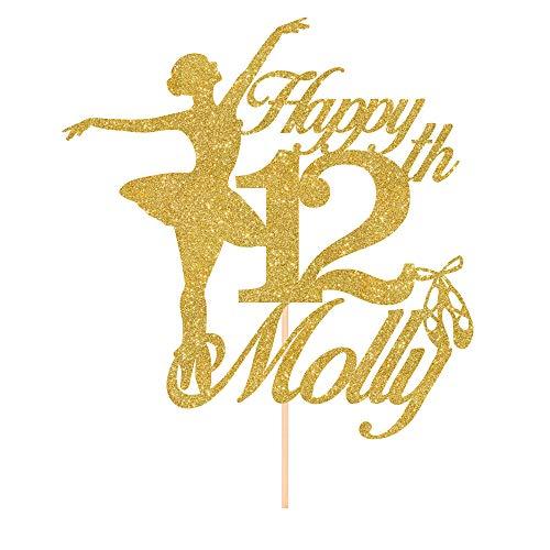 Personalised Ballerina Kids Birthday Cake Topper/Ballerina themed 4th, 5th, 6th, 7th, 8th, 9th, 10th, 11th, 12th, 13th, 14th