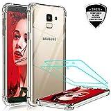 LeYi Coque pour Samsung J6 2018 Transparent [2 Pcs D'écran Verre Trempé],...