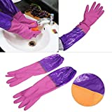 FreshDcart Rubber Hand Dish Washing Gloves Reusable Kitchen Cleaning Waterproof Gloves Large Size