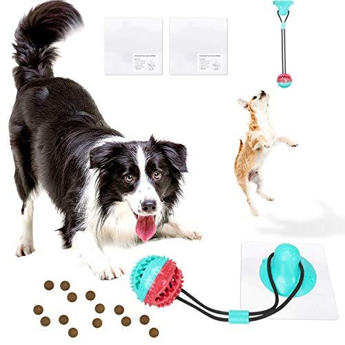 FONPOO Hundespielzeug Mit Saugnapf, Intelligenzspielzeug für Kleine Hunde, Robustes Halbautomatisches Kauspielzeug Hund Mit Seilball