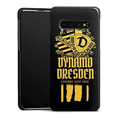 Premium Case kompatibel mit Samsung Galaxy S10 Smartphone Handyhülle Hülle glänzend Statement SG Dynamo Dresden SGD