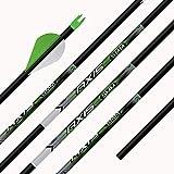 Easton Axis Arrow Axis 340 Spine Arrow Cut to 30 Inches 1/2 Dozen
