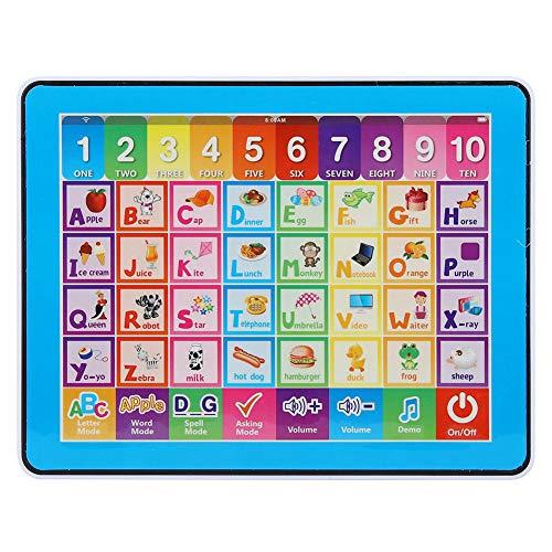 Kinder Lernspaß Tablet Baby Smart Toucher Play Tablet Kind Musik ABC lernen Spielzeug für Buchstaben Worte Rechtschreibung Nummer