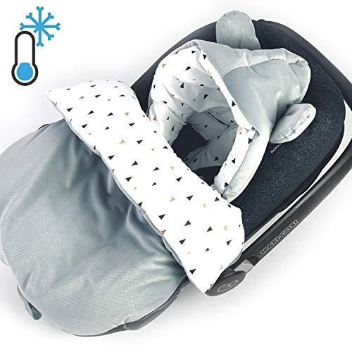 Saco de dormir para sillita de coche VELVET Saco de abrigo de invierno Saco de dormir para bebé cochecito cuna cuna GOTS