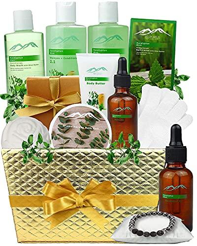 Pampering Gift Set Eucalyptus Mint Aromatherapy Basket