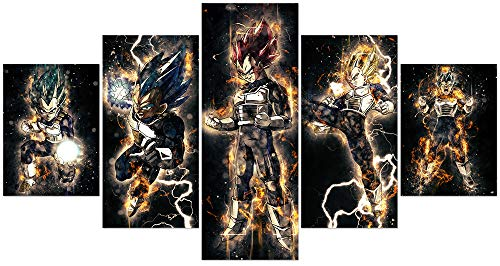 Jackethings Dragon Ball Z and Super Poster Unframed Cool Goku Anime Canvas Prints Wall Art Pictures Bedroom Decoration