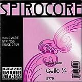 Thomastik Cuerdas para Violonchelo Spirocore alma en espiral juego 1/4 mediana entorchado de cromo escala 545 mm / 21.5'