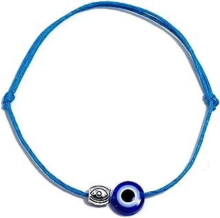 Jude Jewelers Cotton Thread Evil Eye Charm Stacking Adjustable Link Bracelet