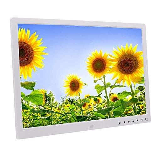 BAQQ Marcos de Fotos Digitales de 17 Pulgadas, con Botones táctiles, Entrada HDMI HD, Soporte para Reproducir Video 1080P HD, se Puede Montar en la Pared, con Control Remoto