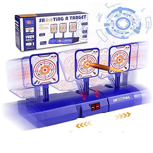 Facio Objetivo Digital Electronico para Pistolas Nerf Objetivo de Tiro Electrico con Restablecimiento Automatico y Inteligentes de Sonido, Luz para Nerf N-Strike Elite, Rival