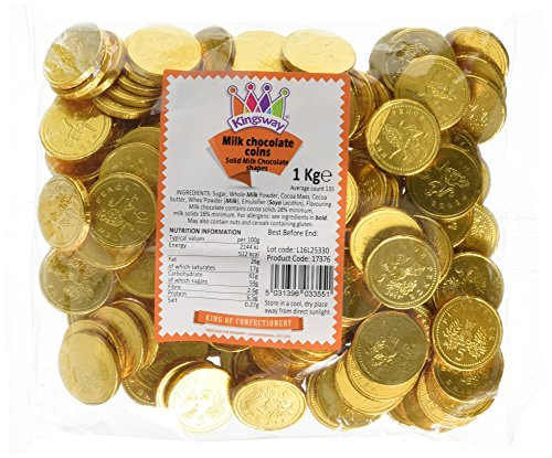 Milk Chocolate Coins - 1kg bag Approx 135
