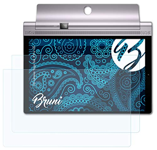 Bruni Película Protectora Compatible con Lenovo Yoga Tab 3 Pro 10 Protector Película, Claro Lámina Protectora (2X)