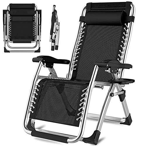 MJ-Brand Klappbarer Liegestuhl Strand für Außenterrasse Sessel Entspannen Gartenbüro Home Camping Picknick Sonnenliege