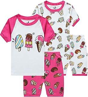 Girls Pajamas Dance PJS 2 Piece Set 100% Cotton Children Sleepwear Toddle Gift