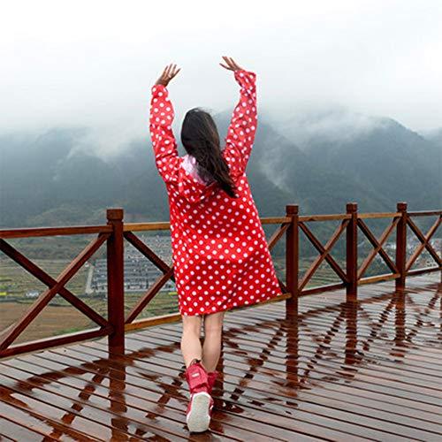 Geruafu poncho Regenjas, polyester, draagbaar, lange hoed, voor vrouwen, wandelen, outdoor, wandelen, kamperen, waterdicht
