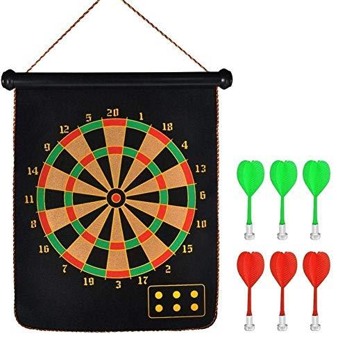 FunBlast Magnet Dart Board Game for Kids ,Double Sided Magnet Dart Board with Darts, Size- 12 Inches (Multicolor)