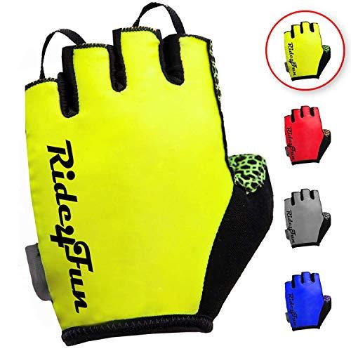 Half Finger Mountain Biking Gloves for Men. Gel Shock-Absorbing Bicycle Riding Road Bike Glove for Women. Best Fingerless Cycling Gloves for Mens/Womens (L)