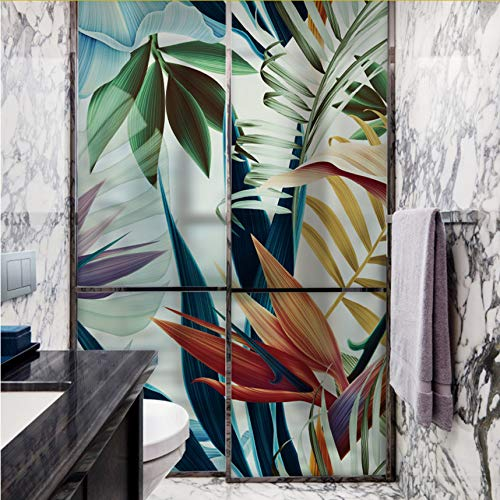 Djkaa Geen lijm statisch hechtende reep privacy gekleurd glas deur venster film anti-uv badkamer decoratie, Home Decor digitale print