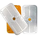 [Pack of 2] Silica Gel Dehumidifier, 50g Reusable Desiccant Canisters, Indicating Orange Silica Gel Canister, Gun Vault Dehumidifier, Gun Safe Moisture Absorber, Bedroom, Car, Ammo Storage, Non Toxic