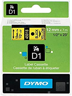 DYMO D1 Standard Labels 12mm suitable for DYMO LabelManager and DYMO LabelWriter Duo