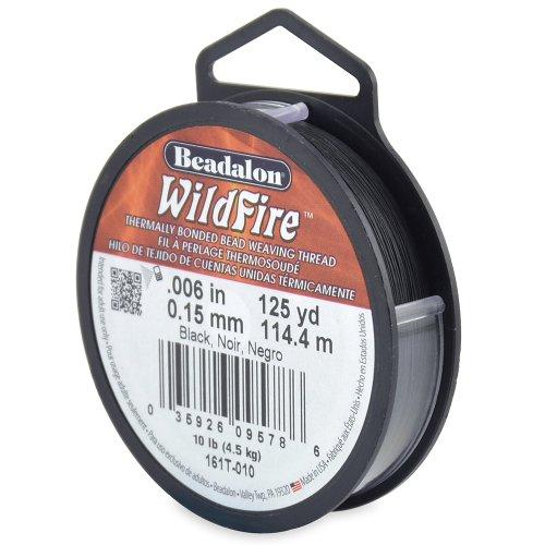 Beadalon Wildfire 0,006 Zoll, schwarz, 125 m