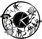 TZMR Reloj de Pared con Disco de Vinilo Utilizado en la decoración de la Sala...