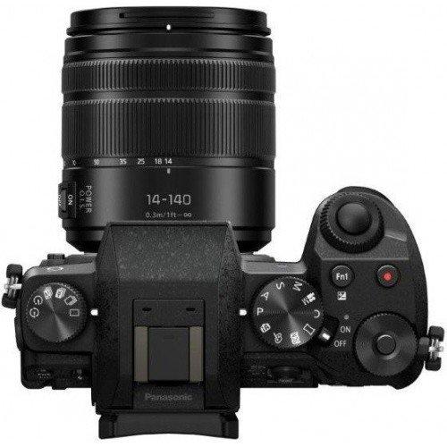 Panasonic Lumix DMC-G70 + H-FS14140E MILC 16,4 MP Live MOS 4592 x 3448 Pixel, Schwarz, Digitalkamera (16,4 MP, 4592 x 3448 Pixel, Live MOS, 4K Ultra HD, Touchscreen) Schwarz