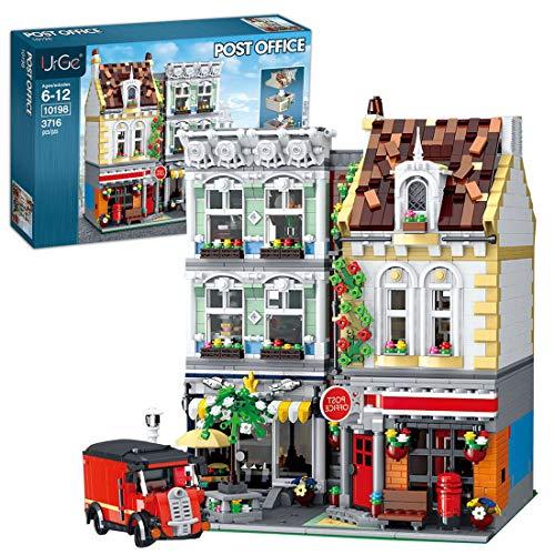 Gettesy Modelo de bloques de construcción para casa, modelo de arquitectura, 3716, bloques de construcción de construcción, construcción de maquetas, compatible con Lego