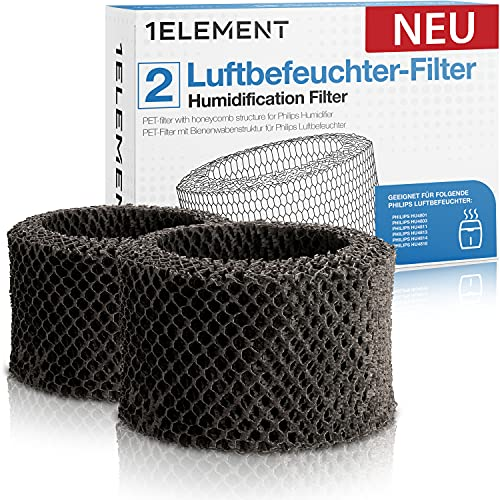 [NEU] 2 Filter für Philips Luftbefeuchter [HU4816, HU4814, HU4813, HU4811, HU4803 & HU4801 – Ersetzt FY2401] Hygienische Luftbefeuchtung, 99{98d6037bc423a17d47e144b7d6f401c2931a1ce1193e04b60b1a00593f79c0e7} weniger Bakterien für Allergiker gegen Feinstaub/Viren