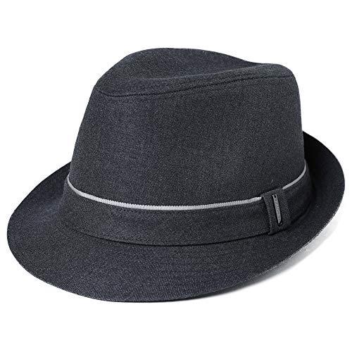 Fancet Sombrero de moda para hombre Trilby Hats Jazz Cap Homburg Gangster Fedora Derby Party Hat Invierno Primavera Otoño