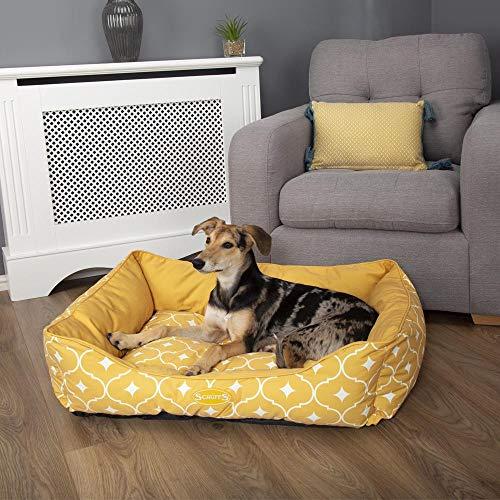 Scruffs Casablanca Hundebett für Hunde, 90 x 70 cm, Größe XL, senffarben, 1,7 kg