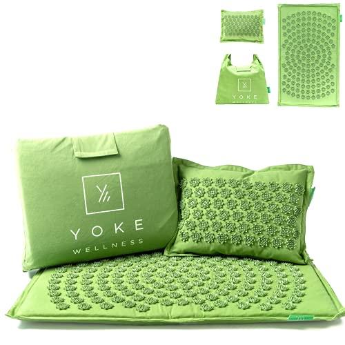 Yoke Wellness Acupressure Mat and Pillow Set - Eco-Friendly, Natural, Premium, Organic...