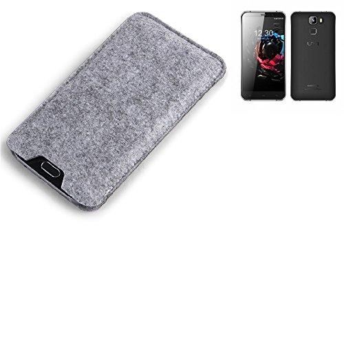 K-S-Trade® Filz Schutz Hülle Für UMI Hammer S Schutzhülle Filztasche Filz Tasche Case Sleeve Handyhülle Filzhülle Grau