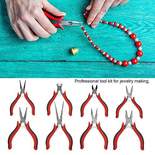 8-delige mini-tangenset voor sieraden, gereedschappen voor het maken van sieraden, sieraden en het maken van sieraden.