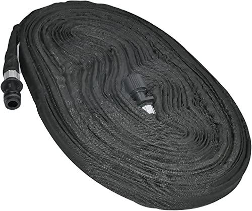 AERZETIX - Manguera plana de riego por goteo microporoso 25/4mm - longitud 15m - con racor rápido - C48772