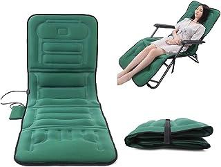 LIUJIE Colchoneta de Masaje con calefacción, colchón de Masaje eléctrico, Multifuncional Plegable e imita el Masaje Humano para aliviar el Dolor en Las piernas,Verde