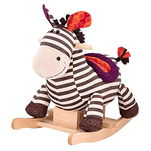 XWX Rocking Horse Kinder Holz Schaukelstuhl Baby Spielzeug Massivholz Reiten Holzpferdespielzeug