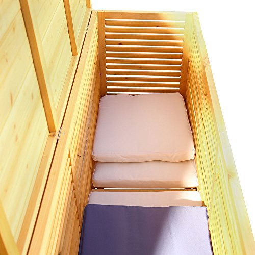 2in1 Holz Bank Auflagenbox Kissenbox Gartenbank Gartenmöbel Truhe Holztruhe - 4