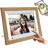 """WiFi Digitaler Bilderrahmen, YENOCK 10.1""""Touchscreen mit Bewegungssensor 1280 * 800 Eingebauter 16-GB-Speicher Porträt"""