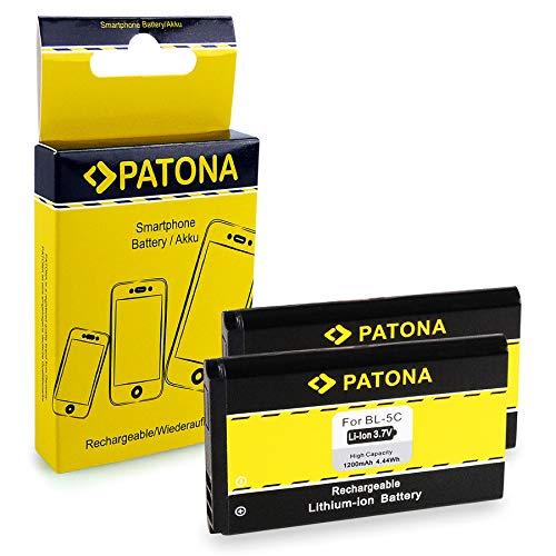 PATONA 2X Bateria BL-5C Compatible con Nokia 7600 6820 6680 6555 3100