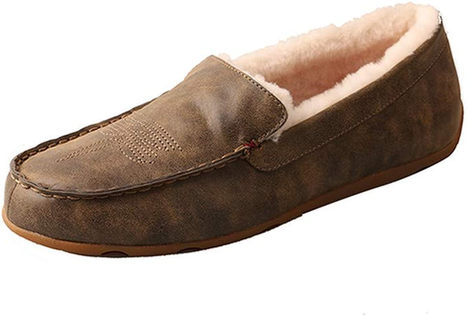 Twisted X Western Slippers Mens Mocs Shearling 11.5 M Bomber MSR0001