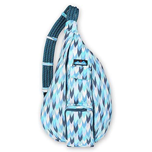 KAVU Original Rope Bag Cotton Crossbody Sling  - Blue Palette