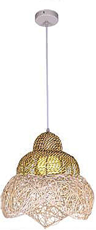 GRFH Rattan Conch Shape Pendentif Lampe Creative Balcony Chandelier Personnalisé Restaurant Bar lumières