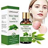 Tea Tree Oil, Olio Essenziale di Tea Tree,Olio di Albero del Tè, Naturale Olio Essenziale Tea Tree per Alleviare Imperfezioni della Pelle con Acne, Olio di Albero del Tè per Diffusori, Massaggio