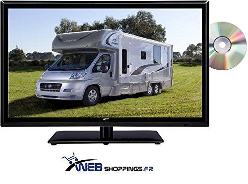 Televisión TV + DVD LED 18.5' HD LED 12V /220 V camping
