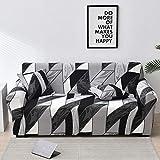 WXQY Funda de sofá elástica con diseño de Flor de melocotón, Funda de sofá con protección para Mascotas, Esquina en Forma de L, Funda de sofá con Todo Incluido A31, 3 plazas