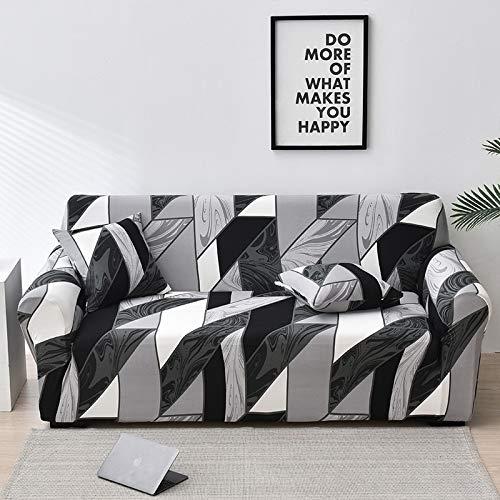 WXQY Funda de sofá elástica con diseño de Flor de melocotón, Funda de sofá con protección para Mascotas, Esquina en Forma de L, Funda de sofá con Todo Incluido, A31, 4 plazas